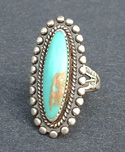 Silver ring with turquoise.