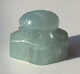 Carved aquamarine