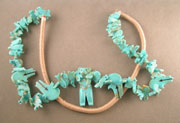 Turquoise animal carvings